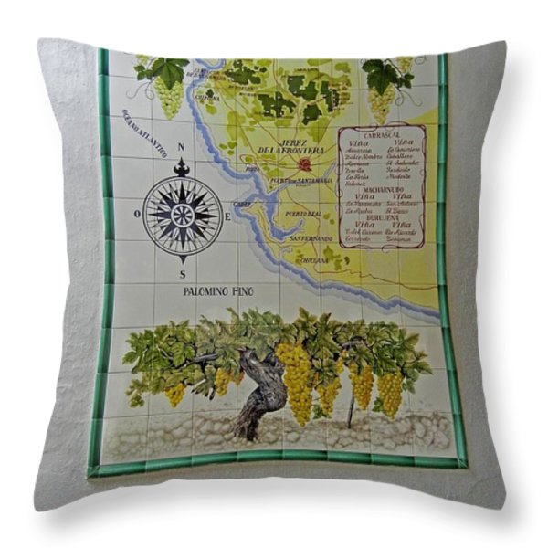 Vinedos Tio Pepe - Jerez de la Frontera Throw Pillow by Juergen Weiss