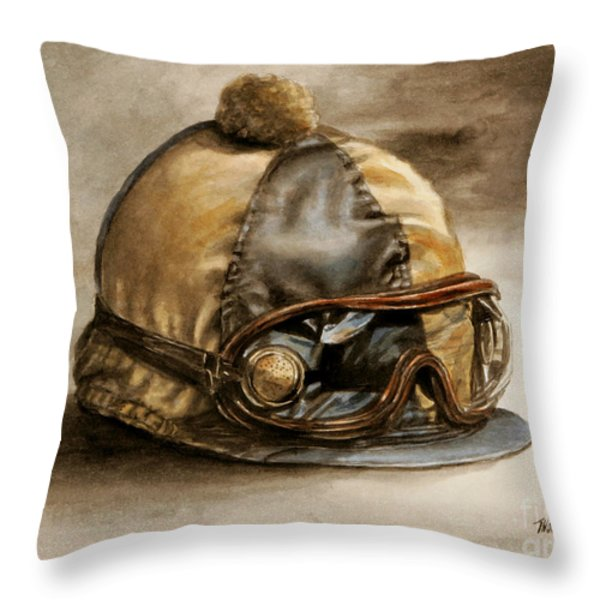 Vintage Cap Throw Pillow by Thomas Allen Pauly