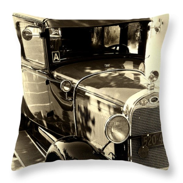 Vintage Classic Ride Throw Pillow by Julie Palencia