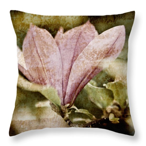 Vintage Magnolia Throw Pillow by Frank Tschakert
