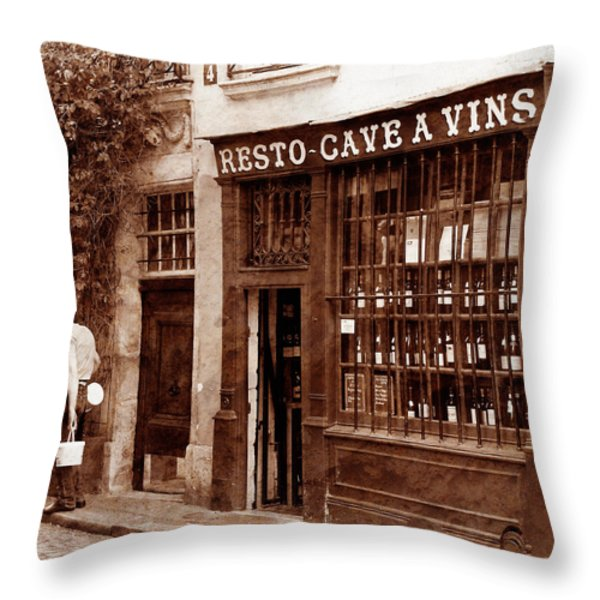 Vintage Paris 3 Throw Pillow by Andrew Fare