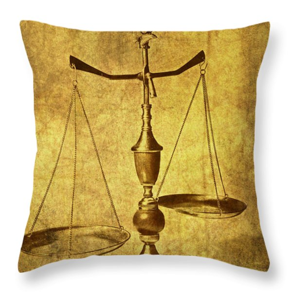 Vintage Scale Throw Pillow by Tom Mc Nemar