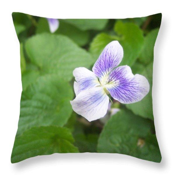 Violet 1 Throw Pillow by Anna Villarreal Garbis