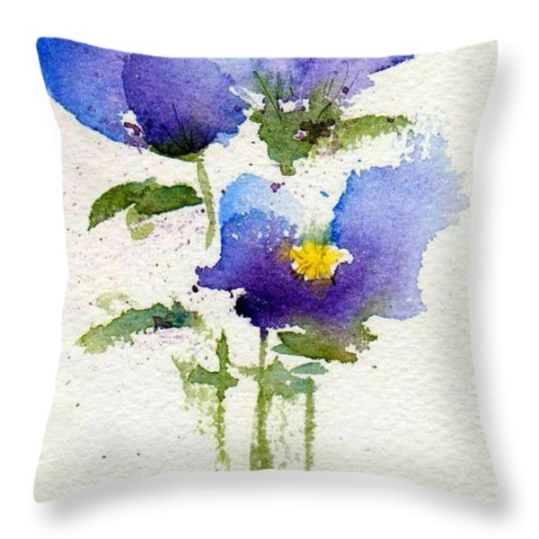 Violets Throw Pillow by Anne Duke