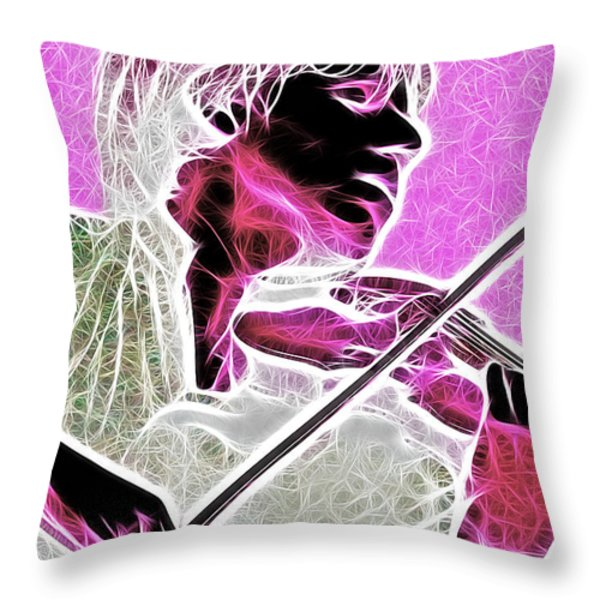 Violin Throw Pillow by Stephen Younts