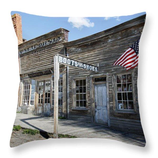VIRGINIA CITY GHOST TOWN - MONTANA Throw Pillow by Daniel Hagerman