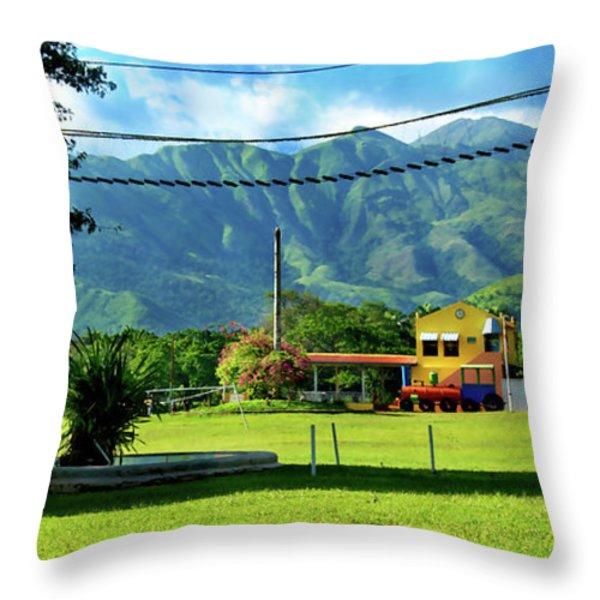Vista Del Ferrocalejo En Rincon Grande Throw Pillow by Bibi Romer