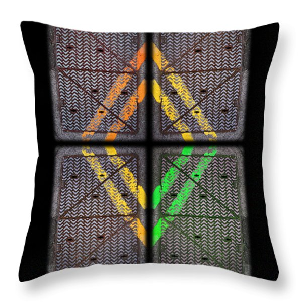 Voices For Green Throw Pillow by Charles Stuart
