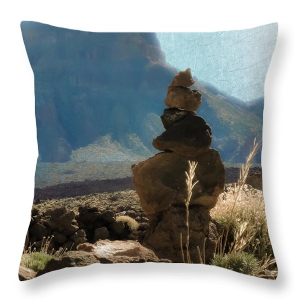 Volcanic Desert Composition Throw Pillow by Loriental Photography