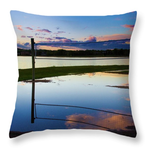 Volleyball Sunset Throw Pillow by James BO  Insogna
