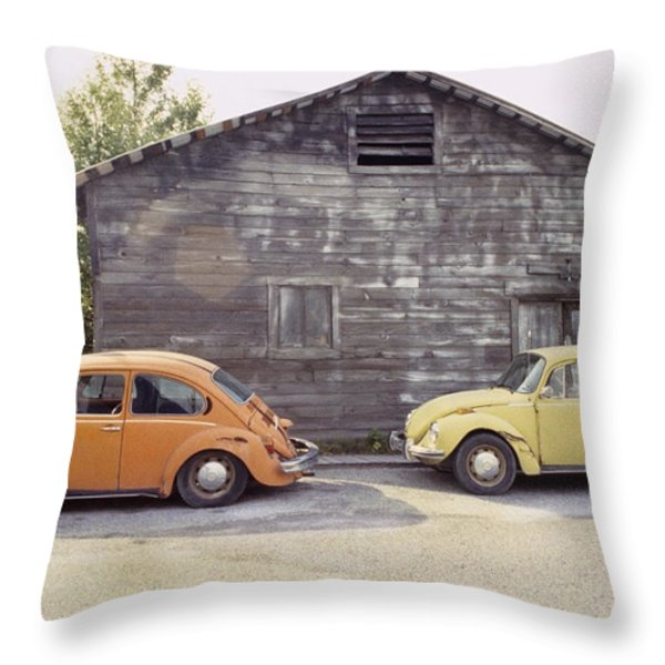 VW's in Skagway Alaska Throw Pillow by Bruce Stanfield