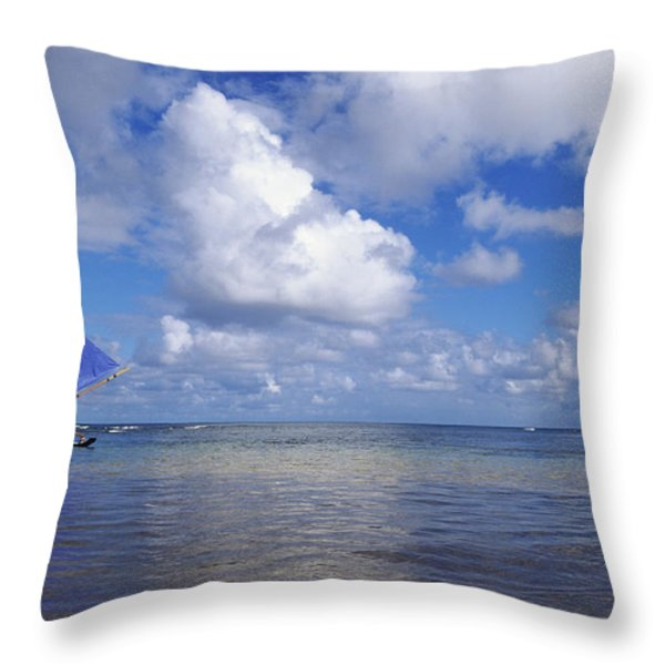 Wading to Outrigger Throw Pillow by Joss - Printscapes