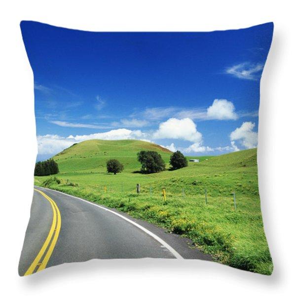 Waimea Ranch Land Throw Pillow by Bob Abraham - Printscapes