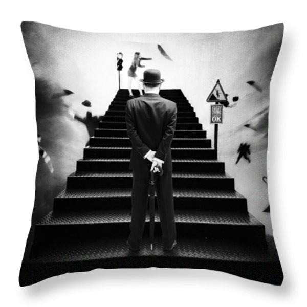 Waiting For The Green Light Throw Pillow by Erik Brede