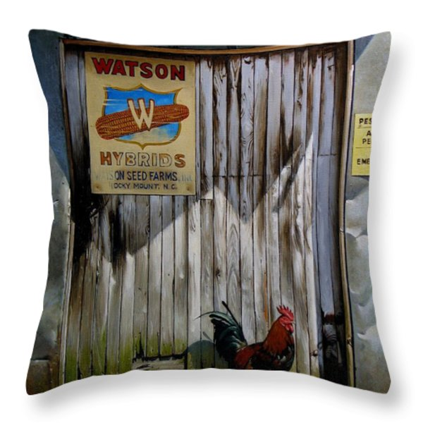 Waiting For Watson 2 Throw Pillow by Doug Strickland