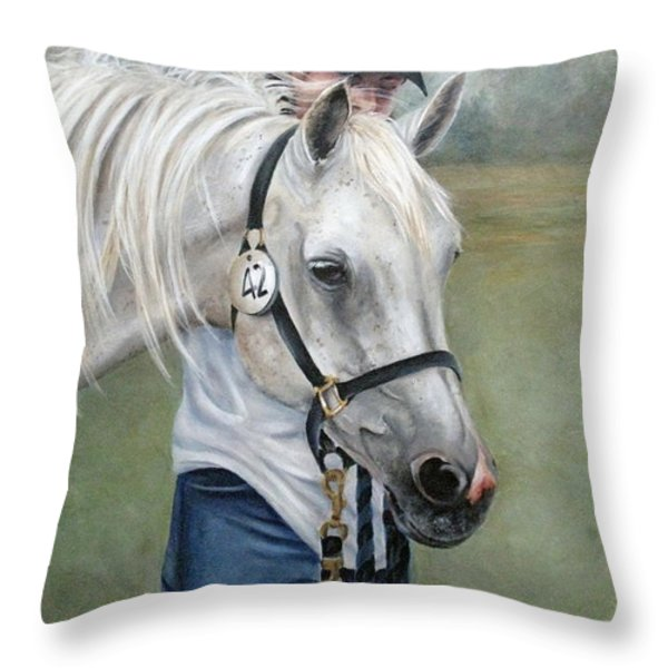 Waiting Throw Pillow by Mary McCullah