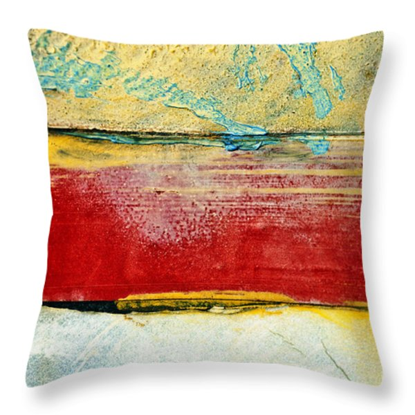 Wall Strip Throw Pillow by Ray Laskowitz - Printscapes
