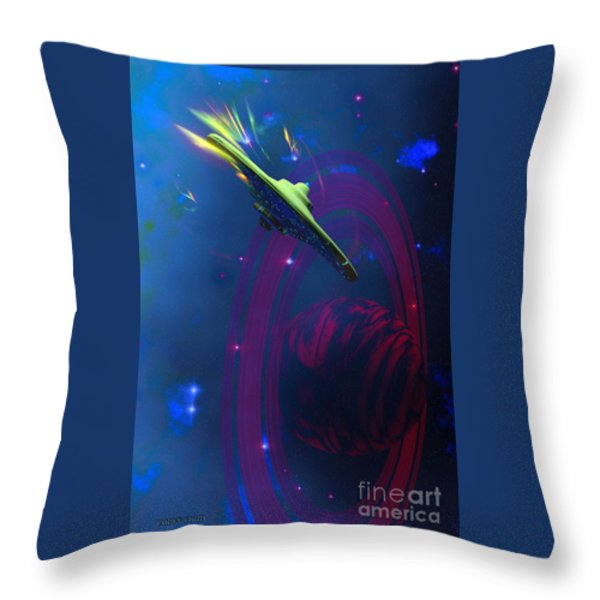 Warp Pulse Throw Pillow by Corey Ford