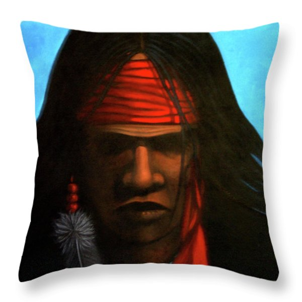 Warrior Throw Pillow by Lance Headlee