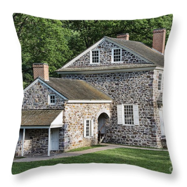 Washington's Headquarters At Valley Forge Throw Pillow by John Greim