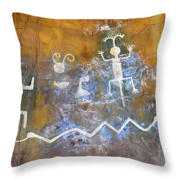 Watchtower Rock Art Throw Pillow by Julie Niemela