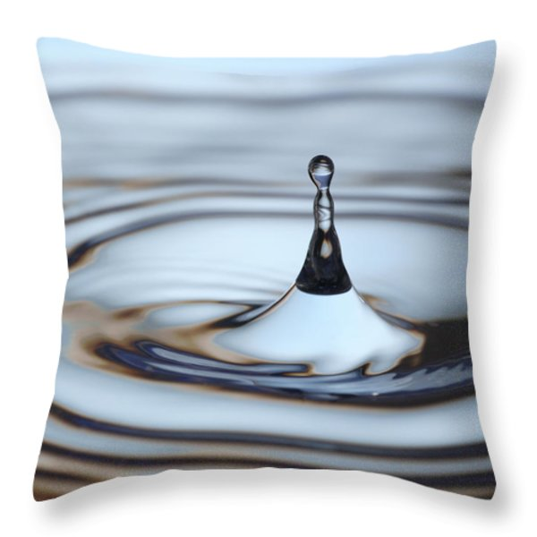 Water drop splash Throw Pillow by Frank Tschakert
