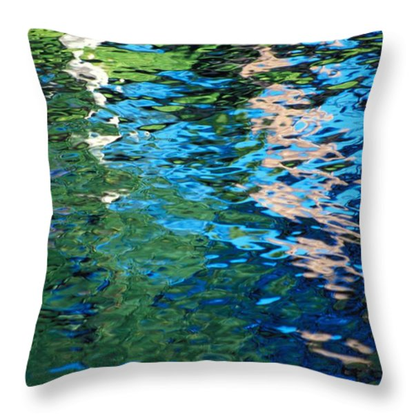 Water Reflections Throw Pillow by Bill Brennan - Printscapes