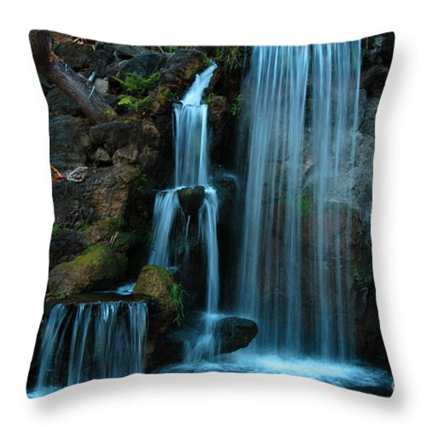 Waterfalls Throw Pillow by Clayton Bruster