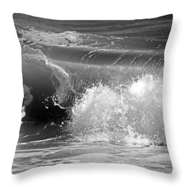 Wave Throw Pillow by Charles Harden
