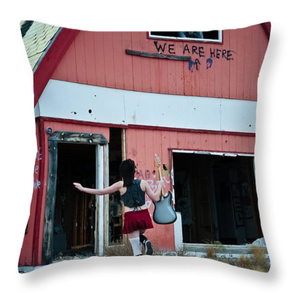 We Are Here Throw Pillow by Scott Sawyer
