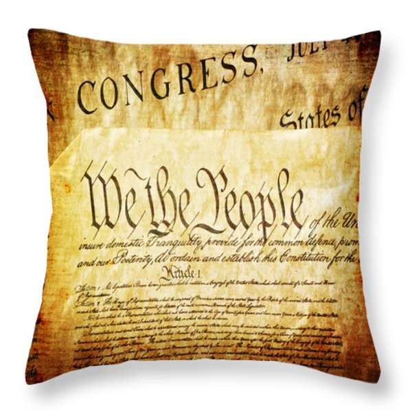 We The People Throw Pillow by Angelina Vick