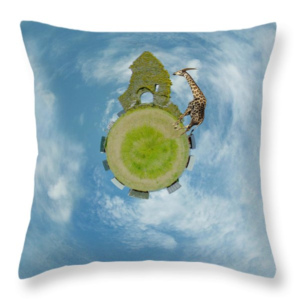 Wee Chapel Ruins Throw Pillow by Nikki Marie Smith