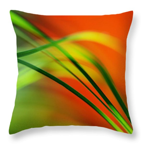 Weeds Throw Pillow by Catherine Lau