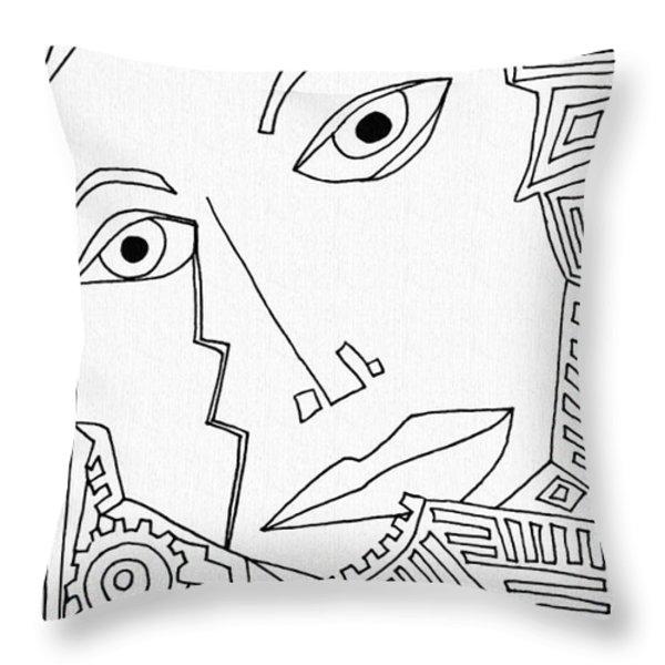 Weeping Woman Throw Pillow by Sarah Loft