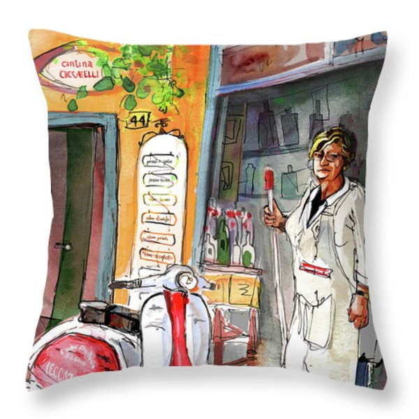 Welcome To Italy 04 Throw Pillow by Miki De Goodaboom
