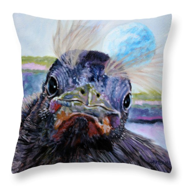 Welcome to the World Throw Pillow by John Lautermilch