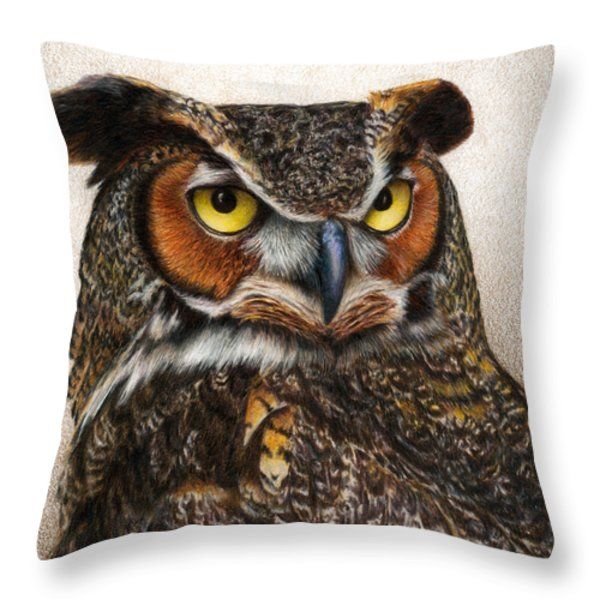 Well...  Throw Pillow by Pat Erickson