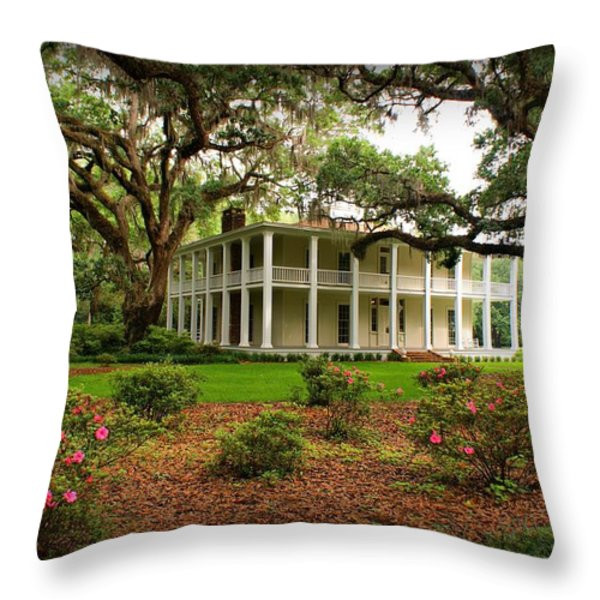 Wesley House Throw Pillow by Sandy Keeton