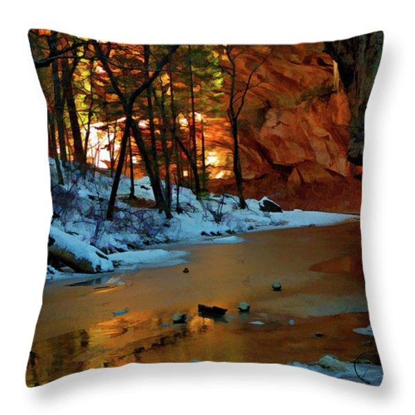 West Fork 07-044 Throw Pillow by Scott McAllister
