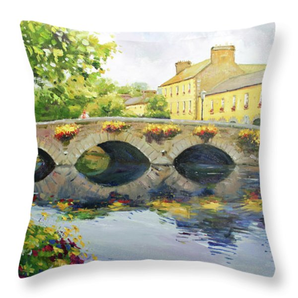 Westport Bridge County Mayo Throw Pillow by Conor McGuire