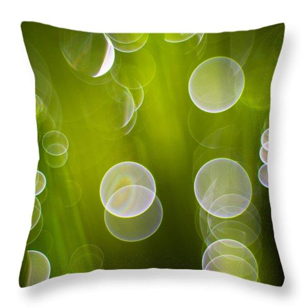 Wet Grass Throw Pillow by Silke Magino