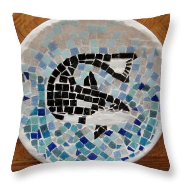 Whale Throw Pillow by Jamie Frier