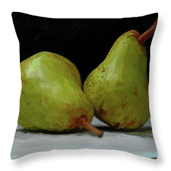 What a Pair Throw Pillow by Patti Siehien