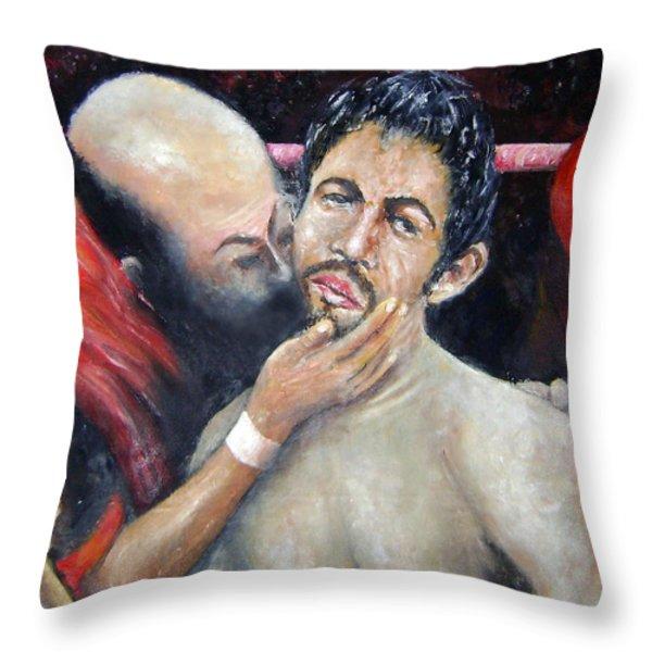 What Am I Doing Here Throw Pillow by Leonardo Ruggieri