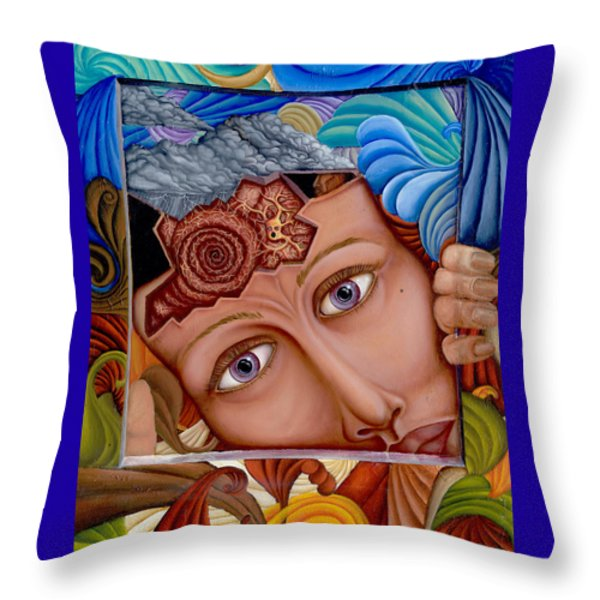 What the Mind Feels Throw Pillow by Karen Musick