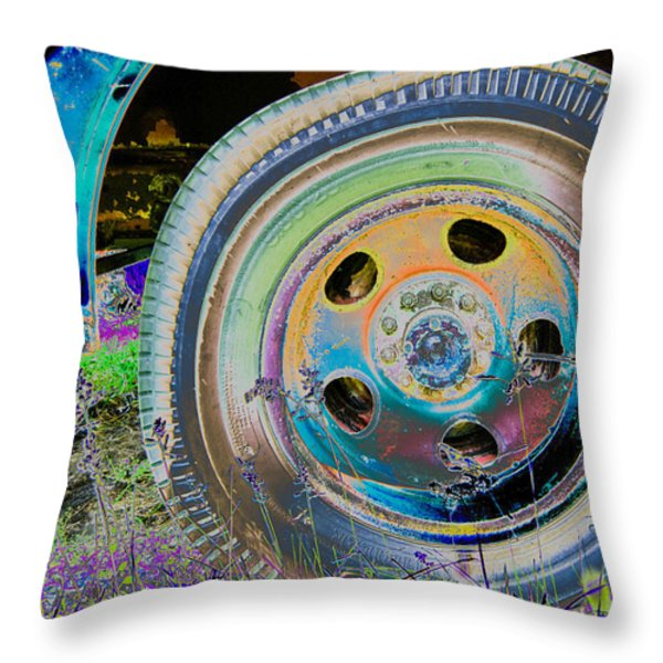 Wheel Throw Pillow by Julie Niemela