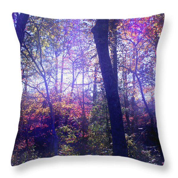 When Forests Dream Throw Pillow by Nina Fosdick