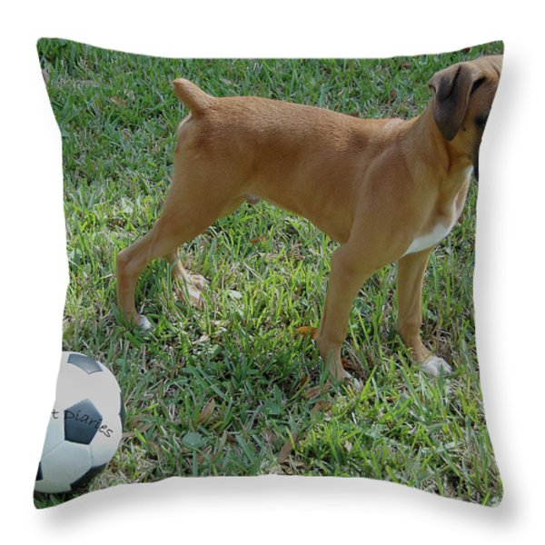 When I Was Just A Pup Throw Pillow by DigiArt Diaries by Vicky B Fuller
