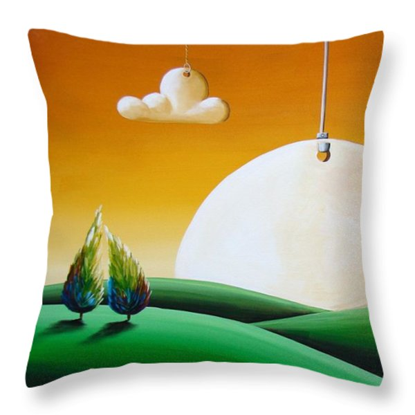 When Time Stands Still Throw Pillow by Cindy Thornton