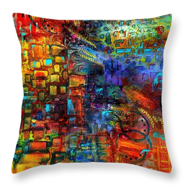 Where Healing Waters Flow Throw Pillow by Angela L Walker
